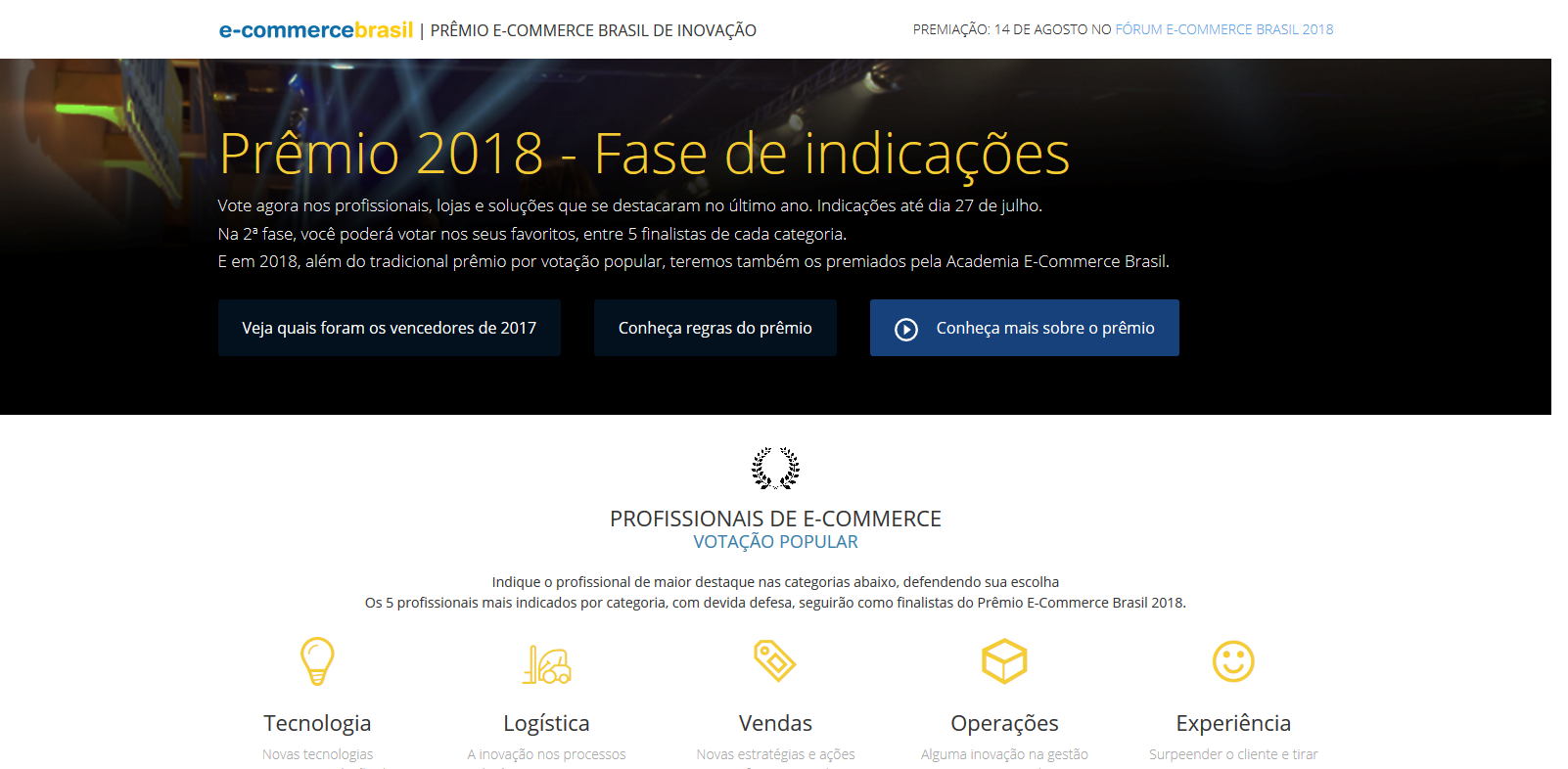 Acesse o site www.premioecommercebrasil.com.br