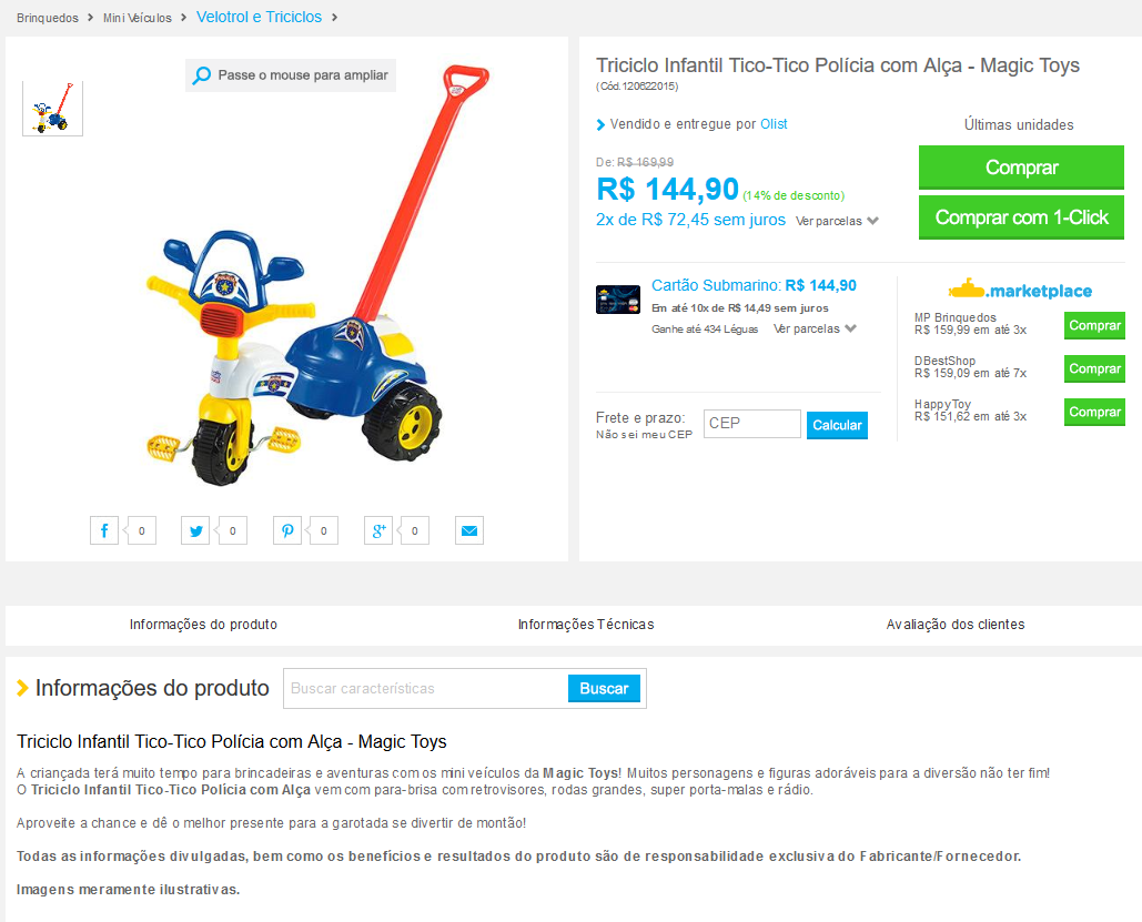exemplo anúncio lojas bonanza