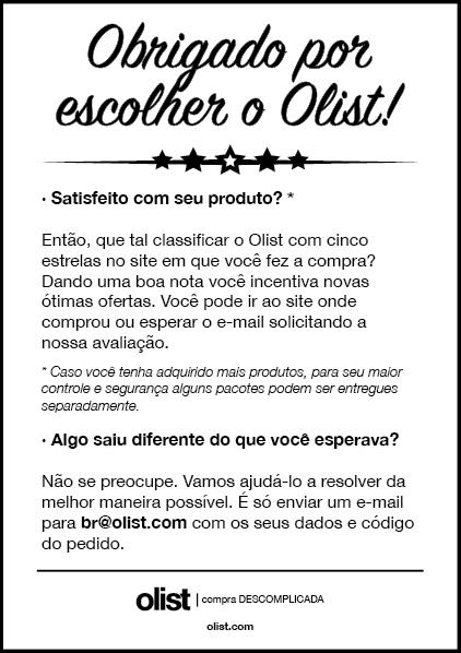 Carta de avaliação da compra é enviada para todos os clientes que compram produtos da loja do Olist nos marketplaces.