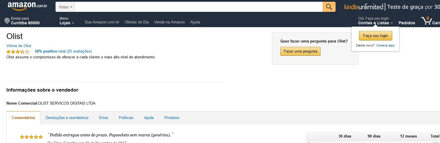 Loja Oficial da Amazon no Brasil