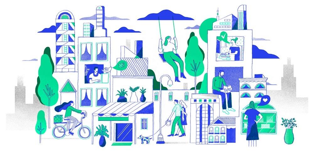 As ilustrações fazem parte da nova cara do Olist
