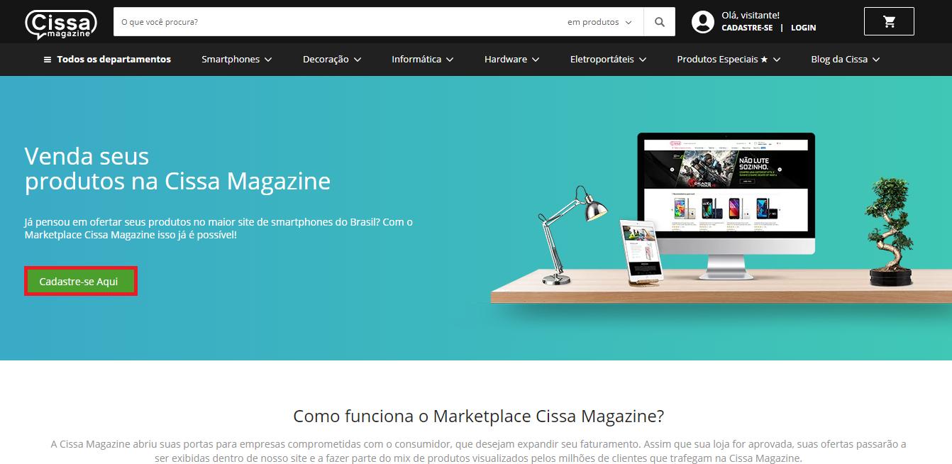 Como vender no marketplace Cissa Magazine: passo a passo