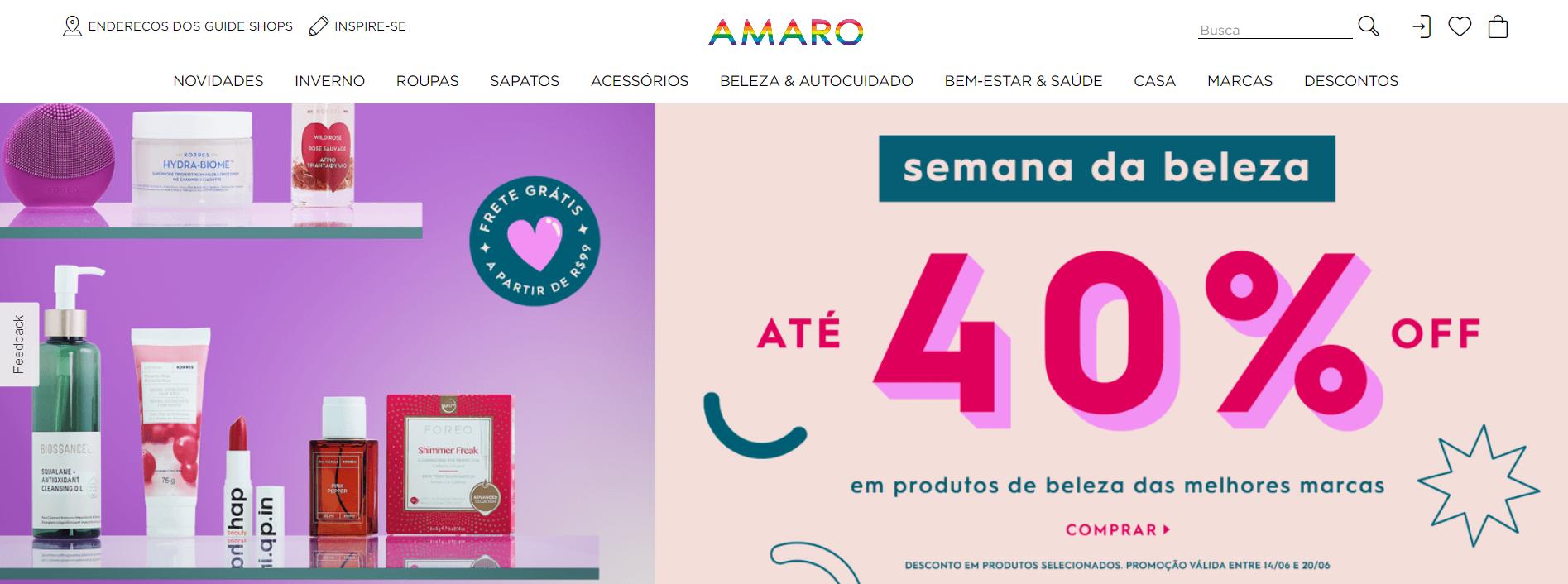 Ideias e frases para atrair clientes - Promoção da Amaro