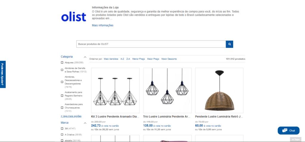 Produtos do Olist anunciados no marketplace MadeiraMadeira, especialista em itens para a casa.