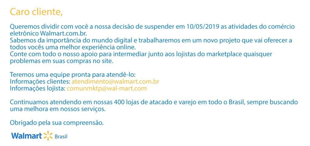 O Walmart anunciou o encerramento das vendas online no Brasi.   Reprodução: G1