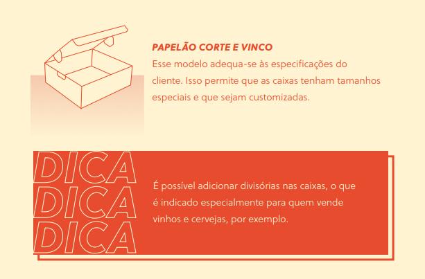 As caixas de papelão são customizáveis e podem ter divisórias. | Reprodução: Superguia da Embalagem Perfeita, do Olist.