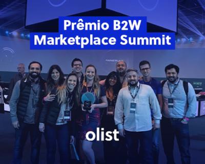 Olist recebe prêmio de melhor atendimento no B2W Marketplace Summit 2019!