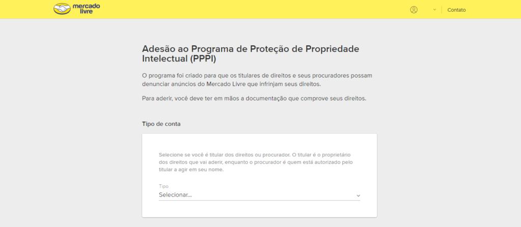 Contrato de adesão para participar do PPPI do Mercado Livre.