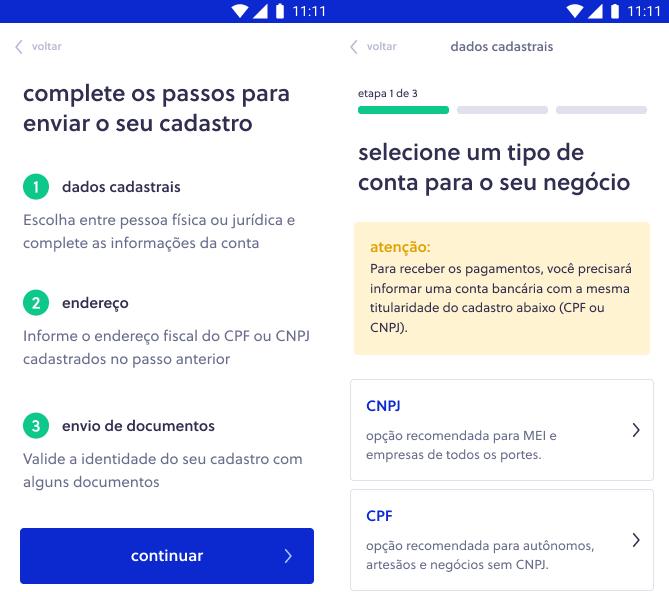 Link de pagamento Olist Shops - Etapa 2
