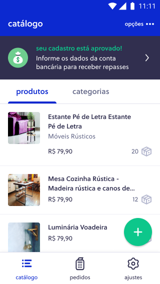 Link de pagamento Olist Shops - Etapa 4