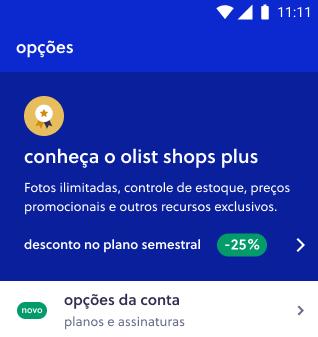 Plano Olist Shops - Olist Shops Plus
