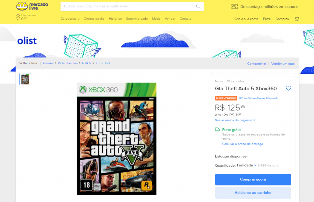 Mercado de Games - Games mais vendidos no Brasil